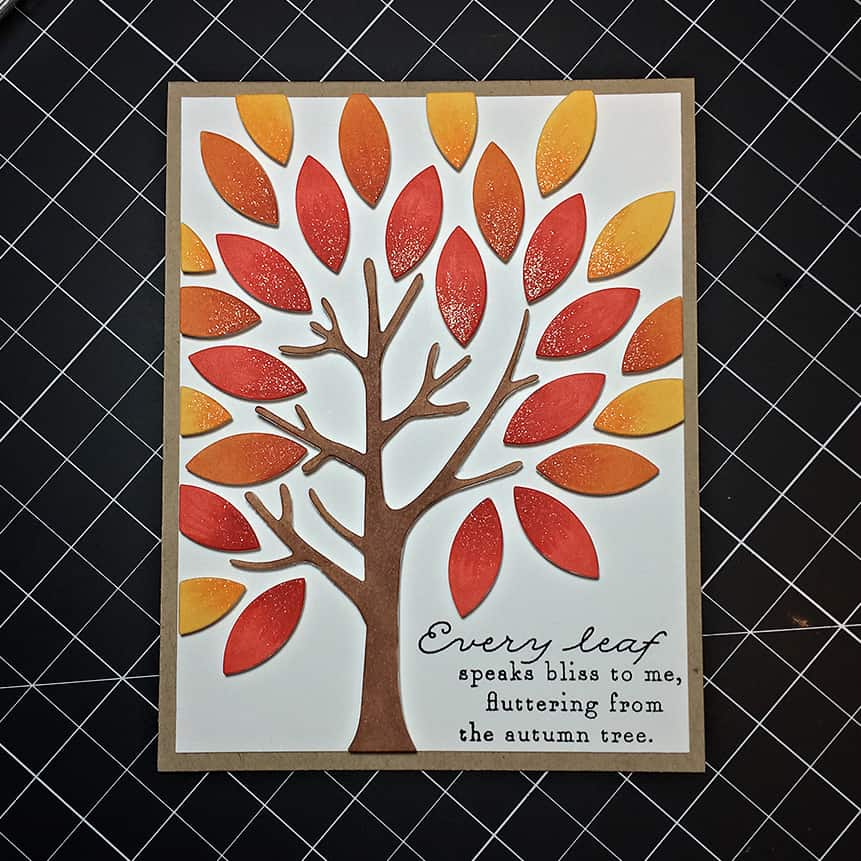 Die Cut Autumn Tree