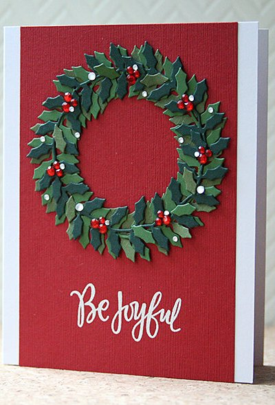 Clean and Simple Wreath Christmas Card