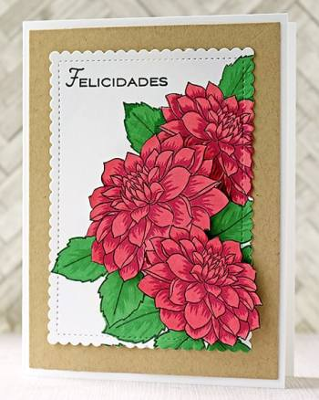 A Bright and Cheerful Layered Dahlias Card