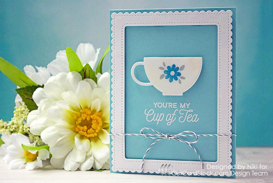 You're My Cup of Tea With Pop-Tones Cardstock