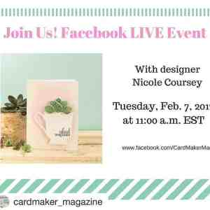 Guest Design: Facebook LIVE with Cardmaker Mag