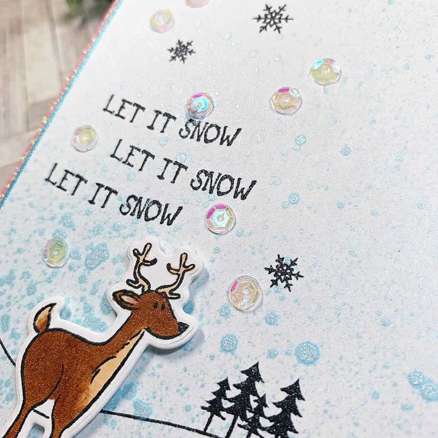 Paper Door: Let It Snow + Spritz Background