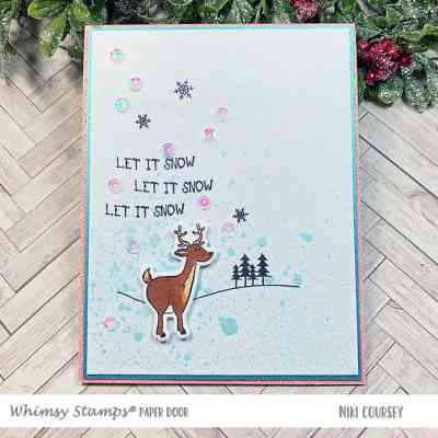Paper Door: Let It Snow + Spritz Background