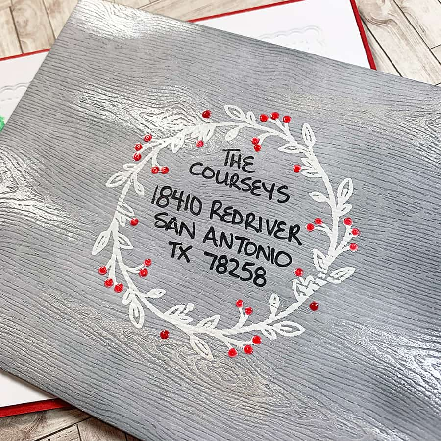 Weathered Wood Holiday Envelopes
