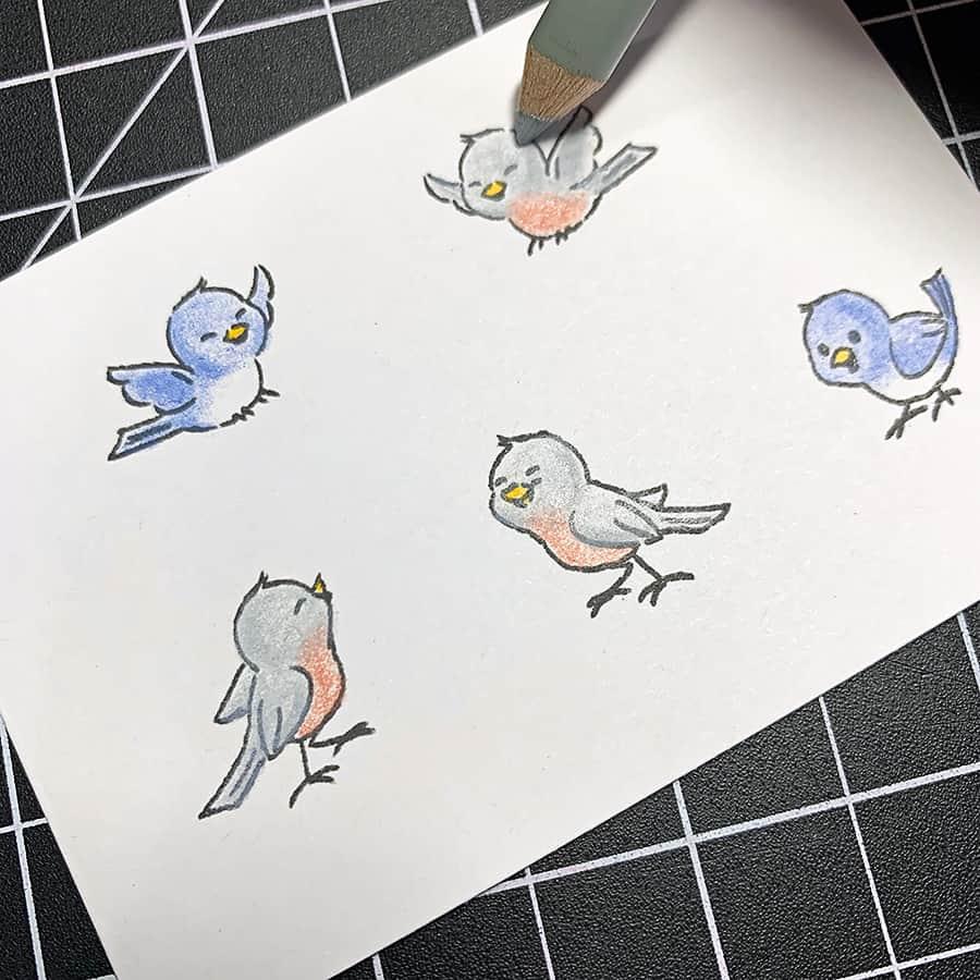 Birthday Birdies With The Hedgehog Hollow April 2019 Kit