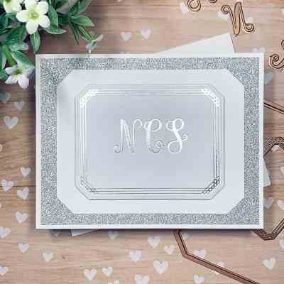 CutCardStock DIY Wedding Blog Hop + Monogrammed Thank You Notes