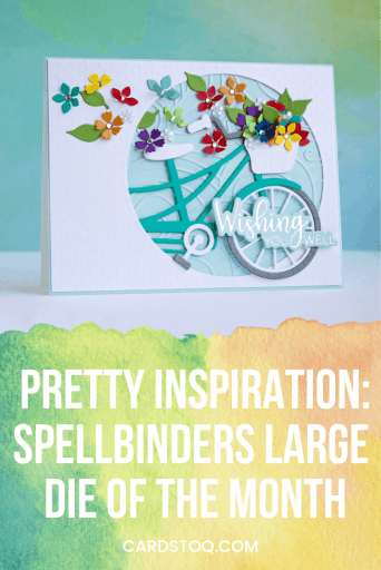 A beautiful card featuring the Spellbinders Large Die of the Month July 2019!