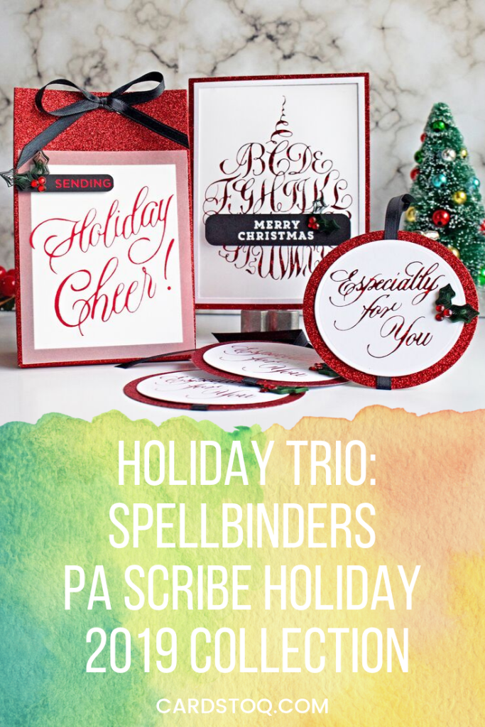 Matching Holiday Trio: Spellbinders PA Scribe Holiday 2019 Collection