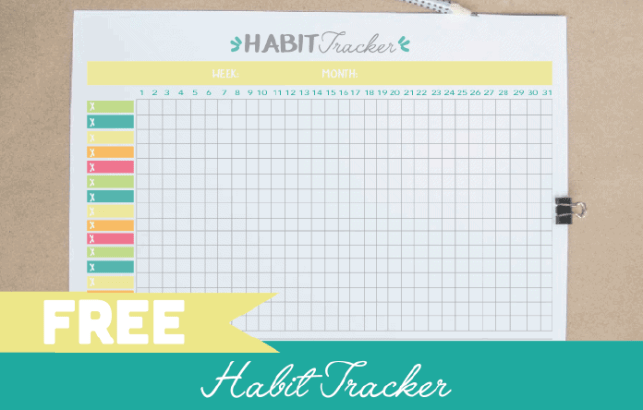 FREE Printable Habit Tracker PDF- Bullet Journal Template