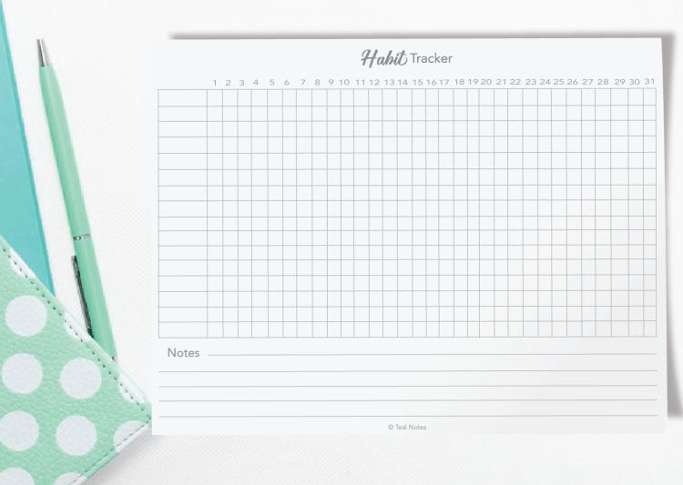 free printable habit tracker pdf, habit tracker bullet journal