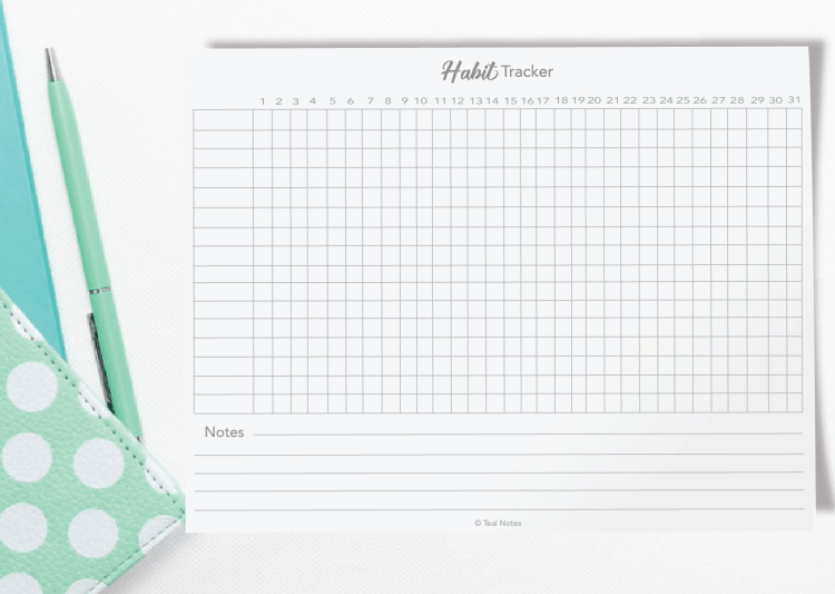 free printable habit tracker pdf, habit tracker bullet journal