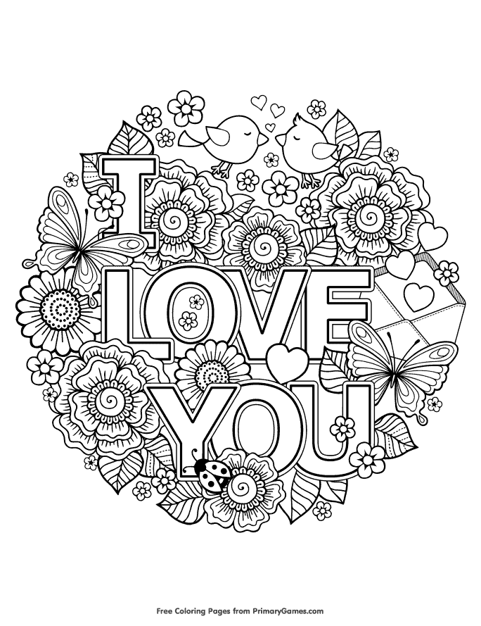 Free Coloring Pages: 21 Gorgeous Floral Pages You Can