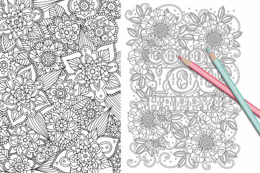 Free Coloring Pages: 21 Gorgeous Floral Pages You Can Print And Color
