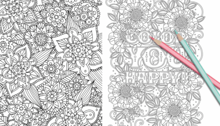 Free Coloring Pages 21 Gorgeous Floral You Can Print And Color