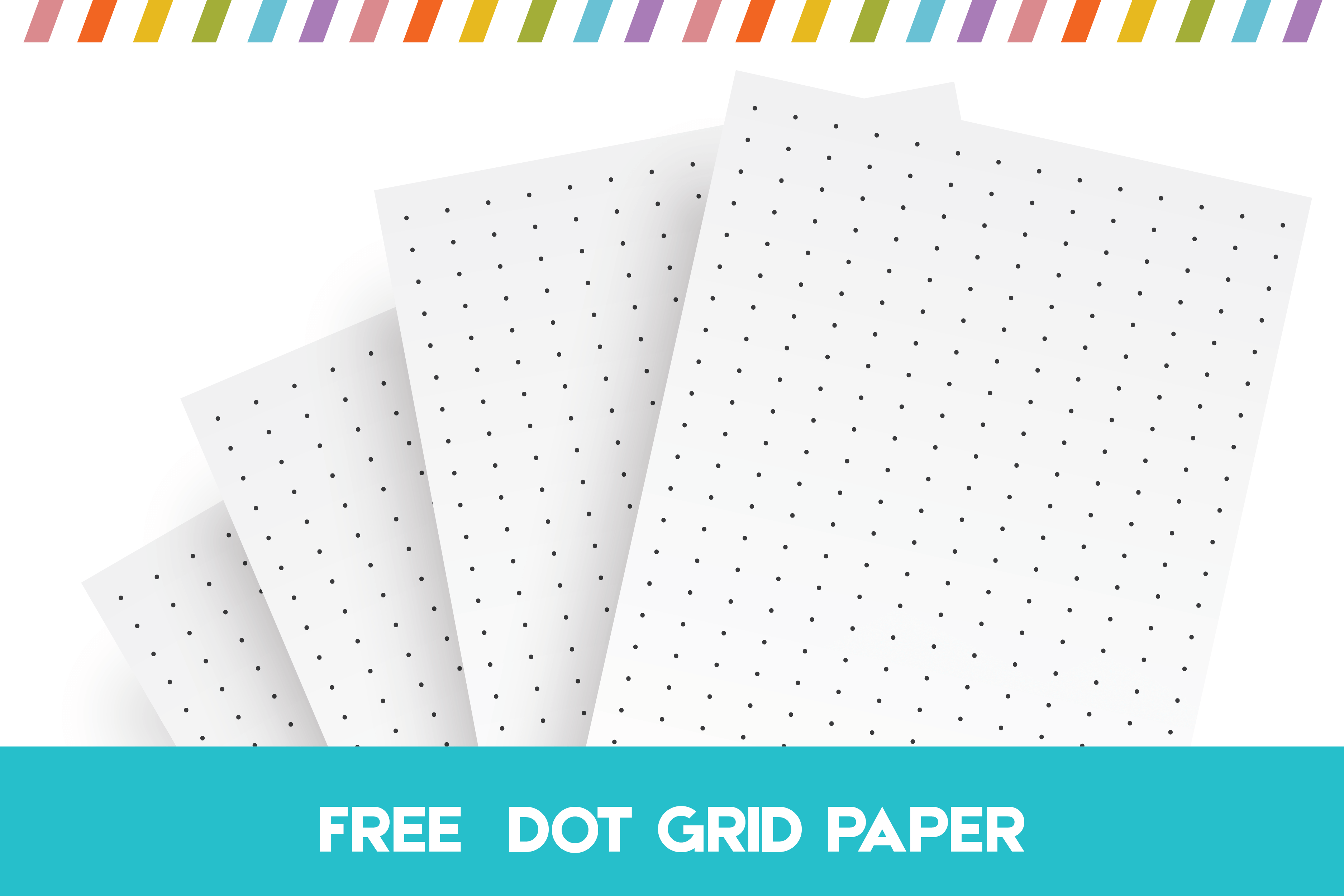 picture about Free Printable Line Paper identified as Free of charge Printable Dot Grid Paper For Bullet Publications And Notes