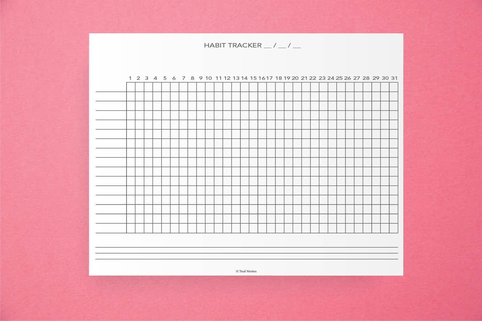 picture regarding Daily Habit Tracker Printable identified as Absolutely free Printable Behavior Tracker PDF: The Greatest Behavior Tracker