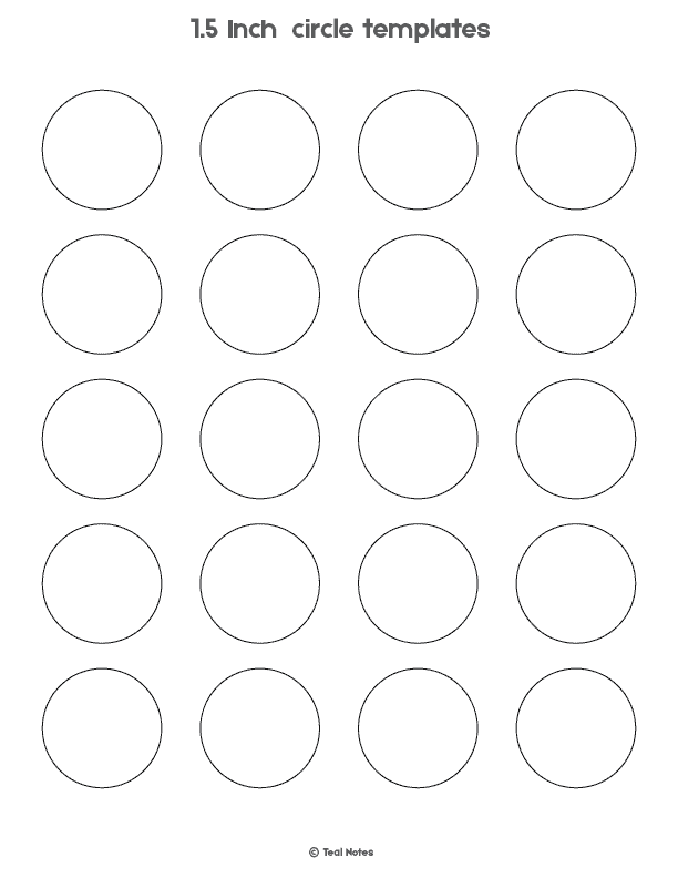 photograph relating to Circle Template Printable titled Circle Template: Free of charge Printable Circle Templates For Your