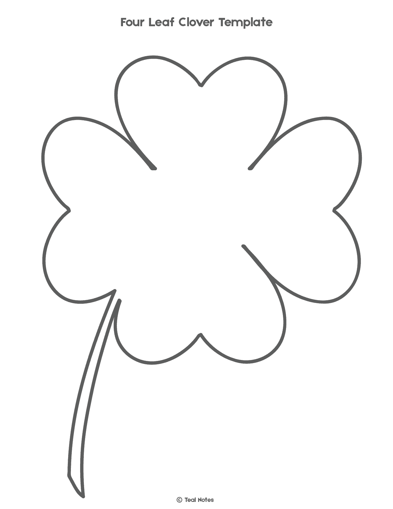 photo about Printable Four Leaf Clover named 4 Leaf Clover Template: No cost Shamrock Template Printable