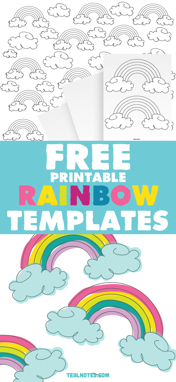 photograph regarding Rainbow Template Printable named Rainbow Template: Totally free Printable Rainbow Determine and Rainbow