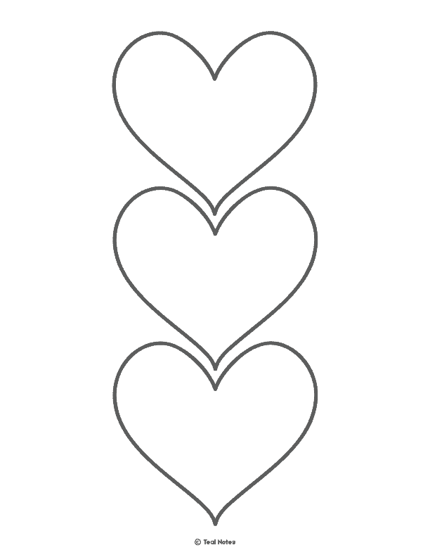 picture regarding Free Printable Heart Template titled Middle Template: Absolutely free Printable Center Lower Out Stencils And