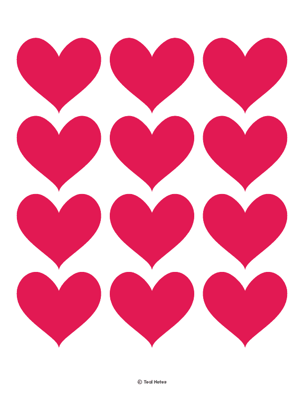 photo about Printable Heart Cutouts named Middle Template: Totally free Printable Centre Slice Out Stencils And