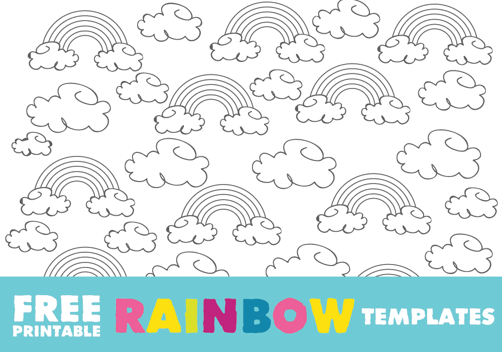 photo about Printable Rainbow Coloring Pages titled Rainbow Template: Totally free Printable Rainbow Determine and Rainbow