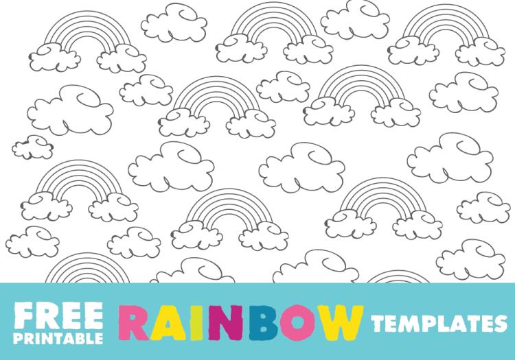 Rainbow Template: Free Printable Rainbow Outline and Rainbow ...
