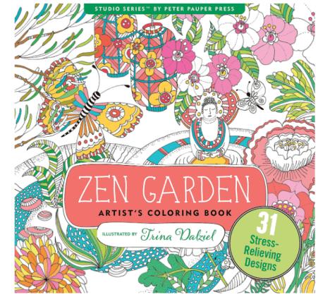 best adult coloring books, zen garden