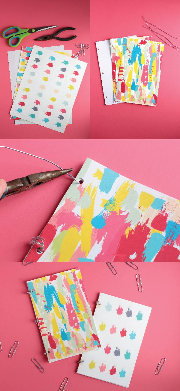 DIY Notebooks with bullet journal paper   DIY Bullet Journals