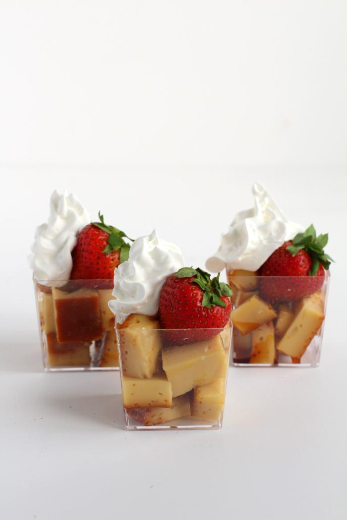 Flan Strawberry Whip Cream Appetizers | Best flan recipe