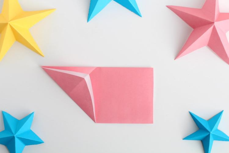 how to make 3D paper stars the easy way