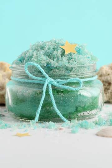 Mermaid sugar scrub a DIY recipe you can make at home for soft skin