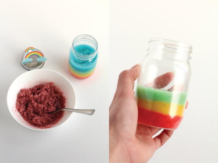 rainbow sugar scrub steps