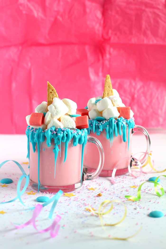 How to make unicorn hot chocolate