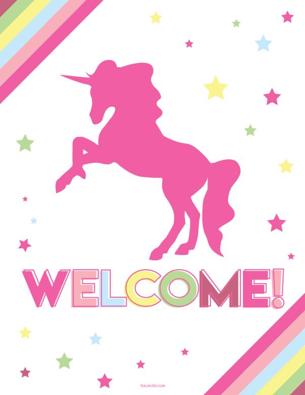 unicorn template | Unicorn birthday party ideas