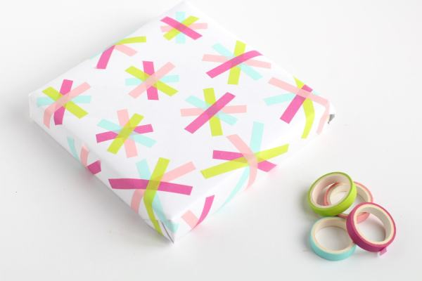washi tape ideas for gift paper diy