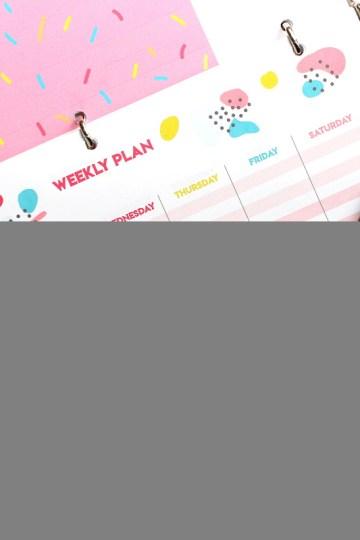 free weekly planner printable page