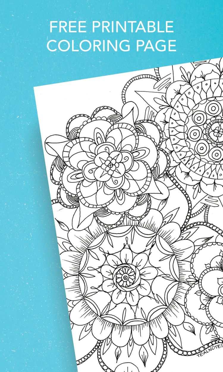 Free Printable Mandala Coloring Page