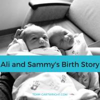 Ali and Sam's birth story