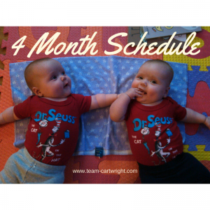 4-Month-Old Sample Twin Schedule-Team Cartwright