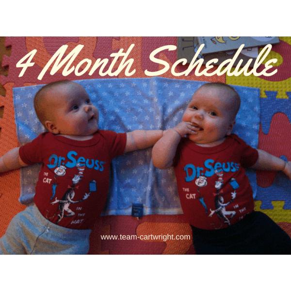 4 month schedule