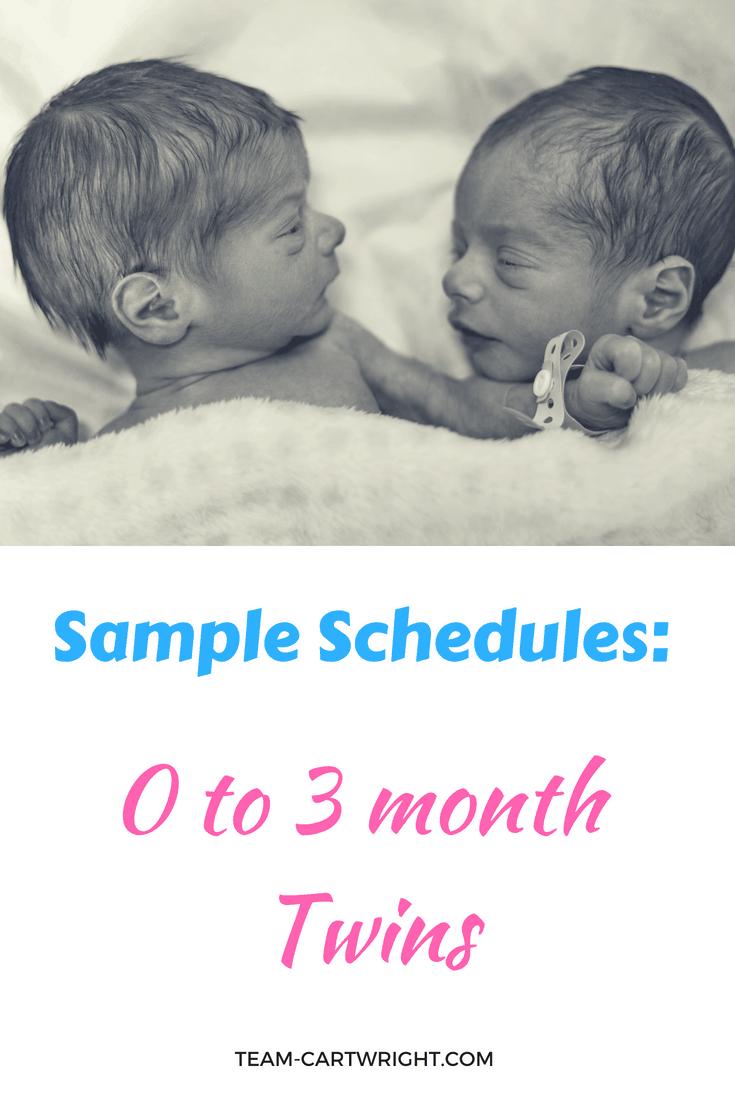 Newborn Twin Schedules Eat Play Sleep Sample Schedules