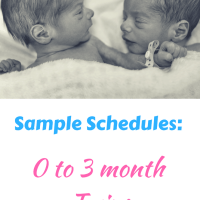 Newborn Twin Schedules: 0 to 3 Months
