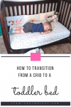 Deciding when and how to transition from a crib? Here is how we transitioned and the factors we took into account. #crib #toddlerbed #cribtotoddlerbed #toddlerchanges #childhoodtransitions #toddlersleep #kidsleep #toddlerrooms #toddlercrib #nursery Team-Cartwright.com