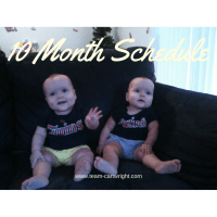 10 Month Old Twins Schedule