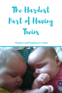 Having twins is such a blessing, but it isn't always easy. For my the hardest part is those moments when you need to hold your baby, but your attention is split.
