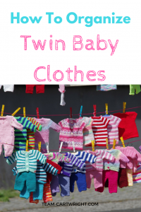 Looking for a simple way to keep your baby twin's clothes organized? Or just your kids' clothes in general? Here are simple tips that you can implement right away to keep those tiny adorable clothes organized. Kid's clothes | Twin Clothes | Simple Organization | Mom Hacks #twins #baby #clothes #organization #simple #system Team-Cartwright.com