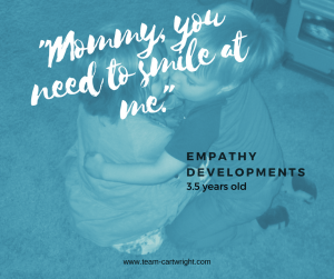 Developing empathy in preschoolers and three year olds. Working with children to understand how others feel. Emotional development in children.
