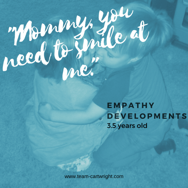 """Mommy, you need to smile."" Empathy Developments"