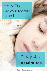 How to get your toddler to bed in less than 10 minutes. Easy bedtime routine for baby, toddler, and kids.